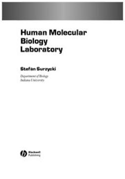 Surzycki, Stefan - Human Molecular Biology Laboratory Manual, ebook