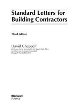Chappell, David - Standard Letters for Building Contractors, ebook