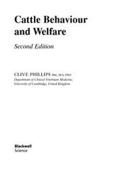 Phillips, Clive - Cattle Behaviour and Welfare, ebook