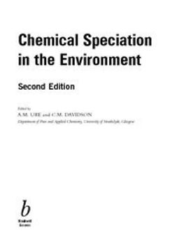 Davidson, C. - Chemical Speciation in the Environment, ebook