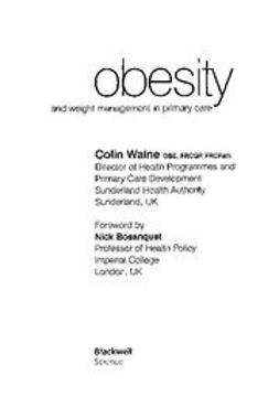 Bosanquet, Nick - Obesity and Weight Management in Primary Care, ebook