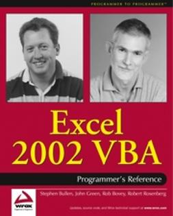 Bovey, Rob - Excel 2002 VBA: Programmers Reference, ebook