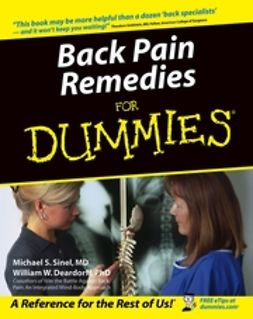 Sinel, Michael S. - Back Pain Remedies For Dummies<sup>&#174;</sup>, ebook