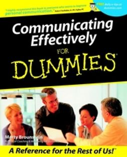 Brounstein, Marty - Communicating Effectively For Dummies, ebook