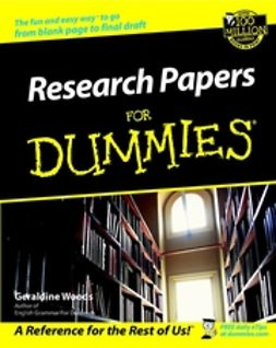 Woods, Geraldine - Research Papers For Dummies, ebook