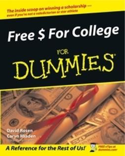 Rosen, David - Free $ For College For Dummies<sup>&#174;</sup>, ebook