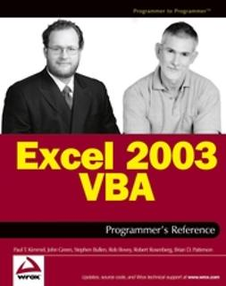 Bovey, Rob - Excel 2003 VBA Programmer's Reference, ebook
