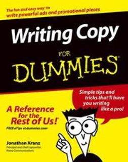 Kranz, Jonathan - Writing CopyFor Dummies, ebook