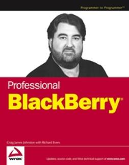 Johnston, Craig J. - Professional BlackBerry, ebook