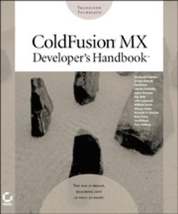 Bainum, Selene - ColdFusion MX Developer's Handbook, ebook