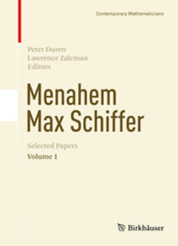 Duren, Peter - Menahem Max Schiffer: Selected Papers Volume 1, ebook