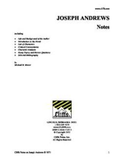 Mavor, Michael B. - CliffsNotes on Fielding's Joseph Andrews, ebook