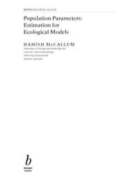 McCallum, Hamish - Population Parameters: Estimation for Ecological Models, ebook