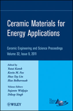 Lin, Hua-Tay - Ceramic Materials for Energy Applications: Ceramic Engineering and Science Proceedings, ebook