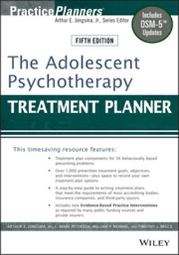 Bruce, Timothy J. - The Adolescent Psychotherapy Treatment Planner, ebook