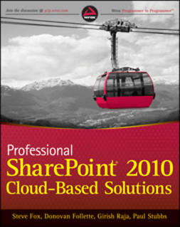 Fox, Steve - Professional SharePoint 2010 Cloud Based Solutions, ebook