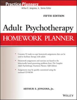 Jongsma, Arthur E. - Adult Psychotherapy Homework Planner, ebook