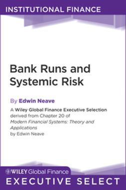 Neave, Edwin H. - Bank Runs and Systemic Risk, ebook