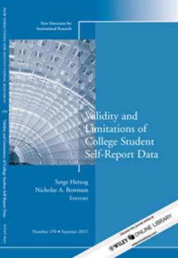 Herzog, Serge - Validity and Limitations of College Student Self-Report Data: New Directions for Institutional Research, ebook