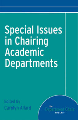 UNKNOWN - Special Issues in Chairing Academic Departments, ebook