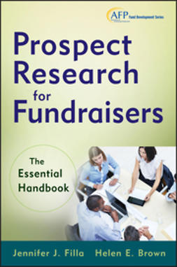 Filla, Jennifer J. - Prospect Research for Fundraisers: The Essential Handbook, ebook