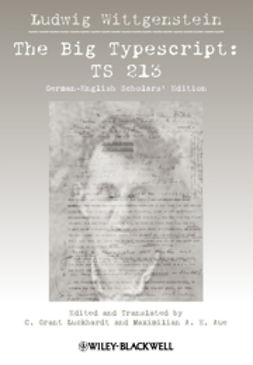 Wittgenstein, Ludwig - The Big Typescript: TS 213, ebook