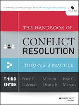 Coleman, Peter T. - The Handbook of Conflict Resolution: Theory and Practice, e-bok