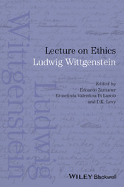 Wittgenstein, Ludwig - Lecture on Ethics, ebook