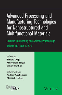 Gyekenyesi, Andrew L. - Advanced Processing and Manufacturing Technologies for Nanostructured and Multifunctional Materials: CESP Volume 35 Issue 6, ebook