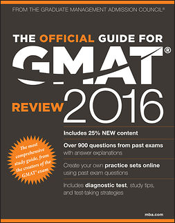 - The Official Guide for GMAT Review 2016 with Online Question Bank and Exclusive Video, ebook