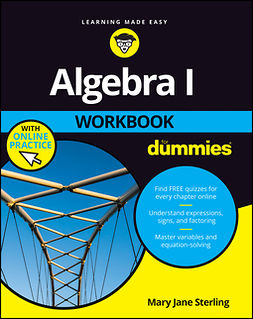 Sterling, Mary Jane - Algebra I Workbook For Dummies, e-kirja
