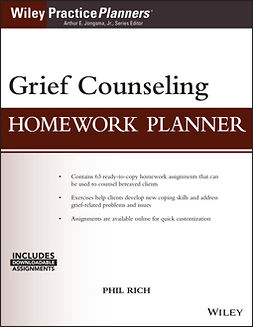 Jongsma, Arthur E. - Grief Counseling Homework Planner, ebook
