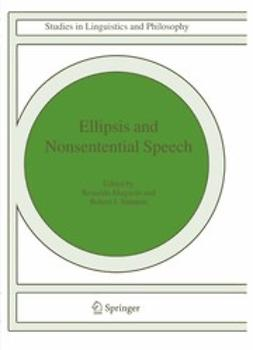 Elugardo, Reinaldo - Ellipsis and Nonsentential Speech, ebook