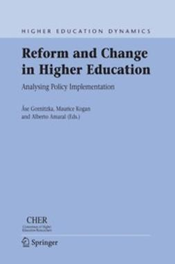 Amaral, Alberto - Reform and Change in Higher Education, ebook