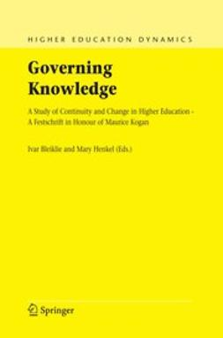 Bleiklie, Ivar - Governing Knowledge, e-kirja