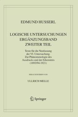 Melle, Ullrich - Logische Untersuchungen Ergänzungsband Zweiter Teil, ebook