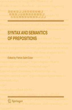 Saint-Dizier, Patrick - Syntax and Semantics of Prepositions, ebook