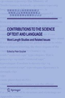 Grzybek, Peter - Contributions to the Science of Text and Language, ebook