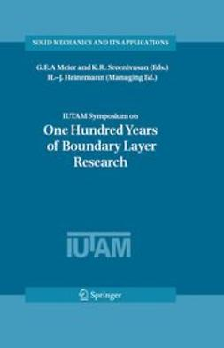 Heinemann, H.-J. - IUTAM Symposium on One Hundred Years of Boundary Layer Research, ebook