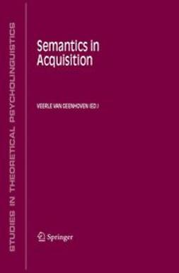 Geenhoven, Veerle van - Semantics in Acquisition, ebook