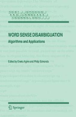 Agirre, Eneko - Word Sense Disambiguation, ebook