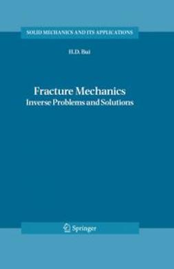 Bui, H. D. - Fracture Mechanics, ebook