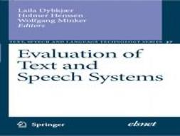Dybkjær, Laila - Evaluation of Text and Speech Systems, ebook