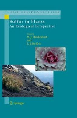 Sulfur in Plants An Ecological Perspective