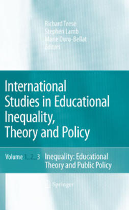 Duru-Bellat, Marie - International Studies in Educational Inequality, Theory and Policy, ebook