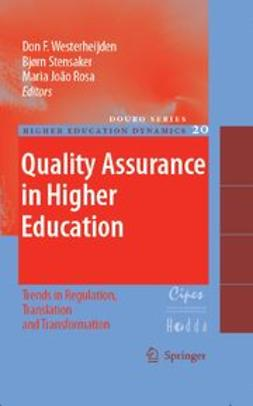 Rosa, Maria João - Quality Assurance In Higher Education, ebook