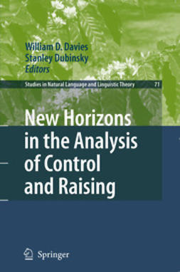 Davies, William D. - New Horizons in The Analysis of Control and Raising, e-bok