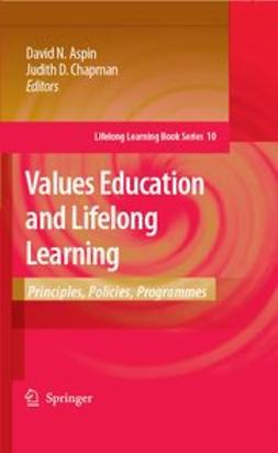 Aspin, David N. - Values Education and Lifelong Learning, ebook