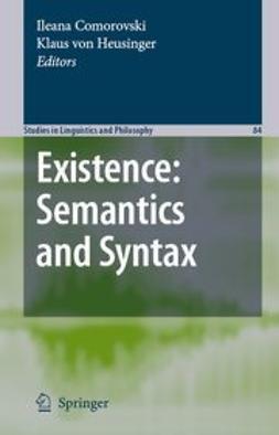 Comorovski, Ileana - Existence: Semantics and Syntax, e-kirja