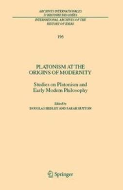 Hedley, Douglas - Platonism at the Origins of Modernity, e-kirja